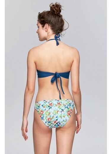 Reflections Mix Match Çıkarılabilir Askılı Dolgusuz Straplez Bikini Üst Renkli